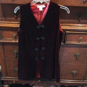 Ann Taylor king velvet vest